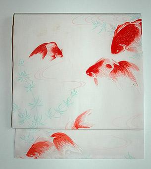 金魚柄染名古屋帯
