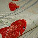 金魚柄刺繍名古屋帯 質感・風合
