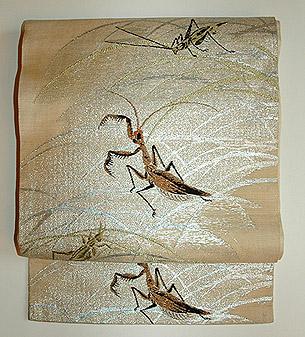 秋の虫紗織名古屋帯