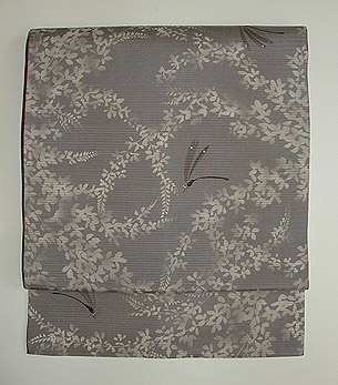 萩に蜻蛉染絽名古屋帯