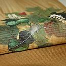 夏蔦に鈴虫刺繍絽名古屋帯 質感・風合