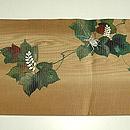 夏蔦に鈴虫刺繍絽名古屋帯 前中心