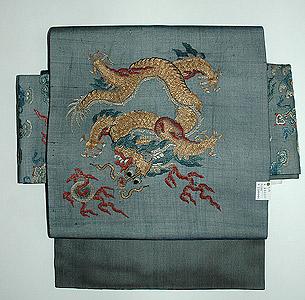 龍の図朝服名古屋帯