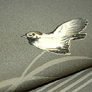 鳴子に雀の名古屋帯 質感・風合
