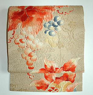 葡萄の図織名古屋帯