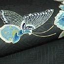蝶の刺繍開き名古屋帯 質感・風合