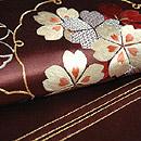 雪輪紋刺繍昼夜帯 質感・風合