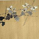 金地に菊刺繍帯 前中心