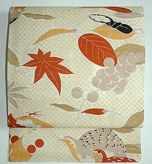 秋色いっぱい名古屋帯
