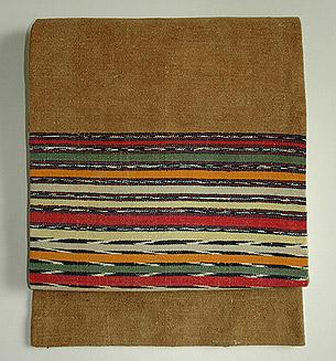 グァテマラ木綿横縞名古屋帯