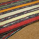 グァテマラ木綿横縞名古屋帯  質感・風合