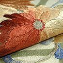 菊の刺繍名古屋帯 質感・風合