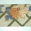 菊の刺繍名古屋帯 前中心