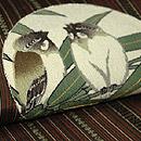 笹に雀柄名古屋帯 質感・風合