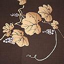 葡萄の図刺繍開き名古屋帯 前中心