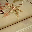 紅葉刺繍開き名古屋帯 質感・風合