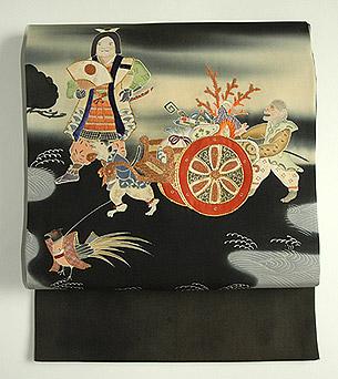 桃太郎の図名古屋帯