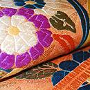 花と鳥染刺繍名古屋帯 質感・風合