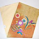 花と鳥染刺繍名古屋帯 帯裏