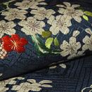 御簾に桜刺繍名古屋帯 質感・風合