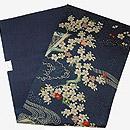 御簾に桜刺繍名古屋帯 帯裏