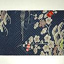 御簾に桜刺繍名古屋帯 前中心