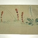 花籠に猫柄染名古屋帯 前中心