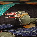 枇杷に鳥柄染名古屋帯 質感・風合