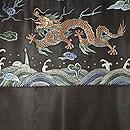 龍柄刺繍開名古屋帯 前中心
