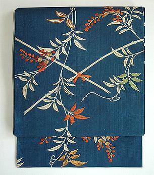 藤棚刺繍名古屋帯