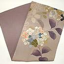 紫陽花柄染名古屋帯 帯裏