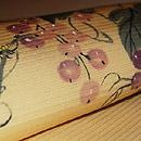 葡萄に蜜蜂柄名古屋帯 質感・風合