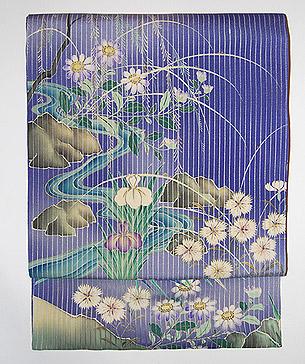 夏の水辺図名古屋帯