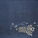 束ね木に雀刺繍名古屋帯 前中心