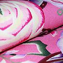 ピンク薔薇縮緬名古屋帯 質感・風合