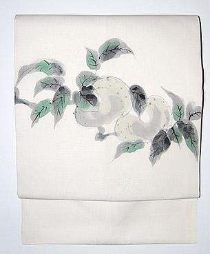梨手描き名古屋帯