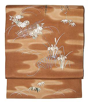 四季の花刺繍名古屋帯