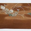 四季の花刺繍名古屋帯 前中心