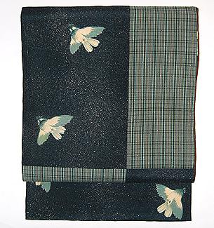 「冬の雀」名古屋帯