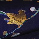 「桜に花喰い鳥」名古屋帯 質感・風合