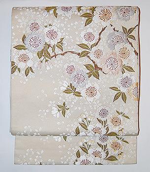 「八重桜」袋帯