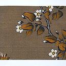 「菊に桜」名古屋帯 前中心