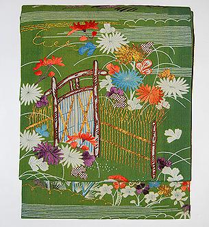 江戸裂刺繍名古屋帯