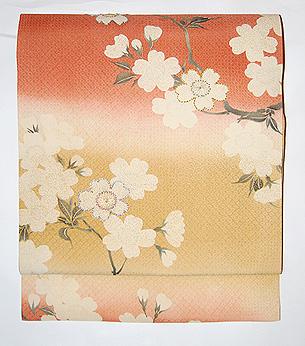 段暈しに桜名古屋帯