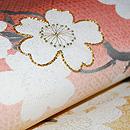 段暈しに桜名古屋帯 質感・風合