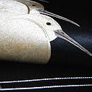 鷺の刺繍名古屋帯 質感・風合