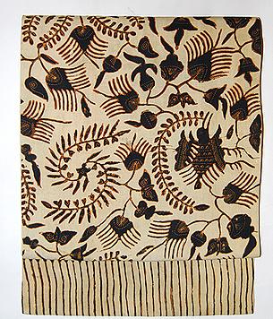 インドネシア、スマトラ島絹更紗名古屋帯