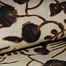 インドネシア、スマトラ島絹更紗名古屋帯 質感・風合