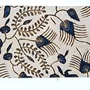 インドネシア、スマトラ島絹更紗名古屋帯 前中心