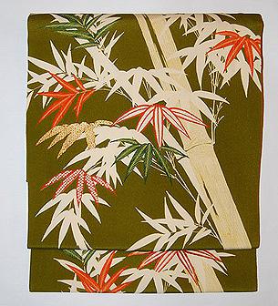 竹柄名古屋帯